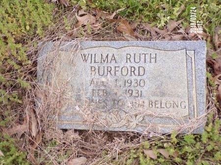 BURFORD, WILMA RUTH - Union County, Louisiana | WILMA RUTH BURFORD - Louisiana Gravestone Photos