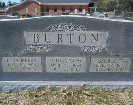 BURTON, ETTA MEEKS - Union County, Louisiana | ETTA MEEKS BURTON - Louisiana Gravestone Photos