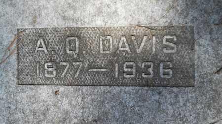 DAVIS, A Q (CLOSE UP) - Union County, Louisiana | A Q (CLOSE UP) DAVIS - Louisiana Gravestone Photos