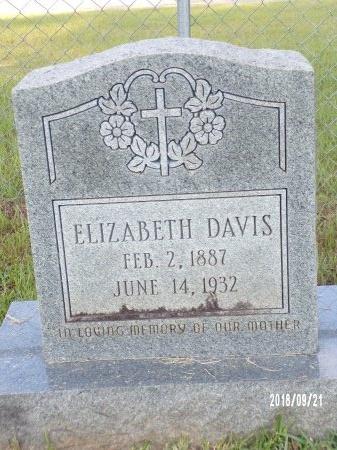 DAVIS, ELIZABETH - Union County, Louisiana | ELIZABETH DAVIS - Louisiana Gravestone Photos