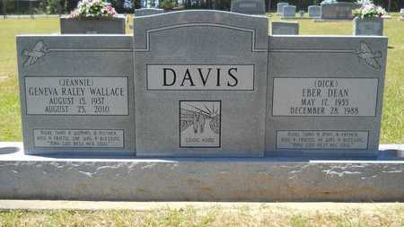 "DAVIS, GENEVA RALEY ""JEANNIE"" - Union County, Louisiana   GENEVA RALEY ""JEANNIE"" DAVIS - Louisiana Gravestone Photos"
