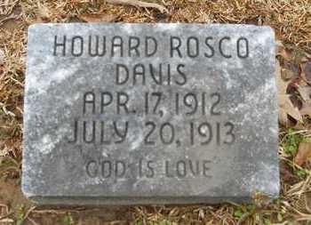DAVIS, HOWARD ROSCO - Union County, Louisiana | HOWARD ROSCO DAVIS - Louisiana Gravestone Photos