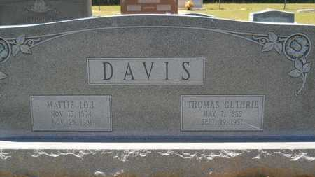DAVIS, THOMAS GUTHRIE - Union County, Louisiana   THOMAS GUTHRIE DAVIS - Louisiana Gravestone Photos