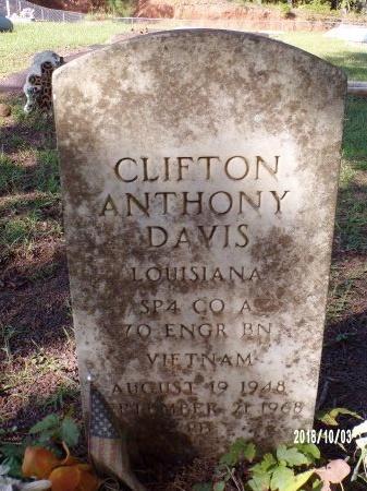 DAVIS , CLIFTON ANTHONY (VETERAN VIET) - Union County, Louisiana | CLIFTON ANTHONY (VETERAN VIET) DAVIS  - Louisiana Gravestone Photos