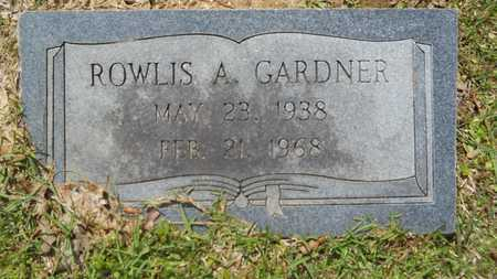 GARDNER, ROWLIS A - Union County, Louisiana | ROWLIS A GARDNER - Louisiana Gravestone Photos