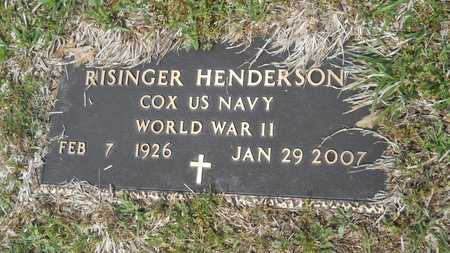 HENDERSON, RISINGER (VETERAN WWII) - Union County, Louisiana | RISINGER (VETERAN WWII) HENDERSON - Louisiana Gravestone Photos