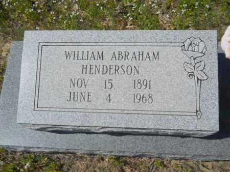 HENDERSON, WILLIAM ABRAHAM - Union County, Louisiana | WILLIAM ABRAHAM HENDERSON - Louisiana Gravestone Photos