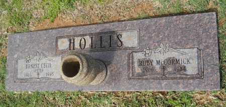 HOLLIS, ERNEST CECIL - Union County, Louisiana | ERNEST CECIL HOLLIS - Louisiana Gravestone Photos