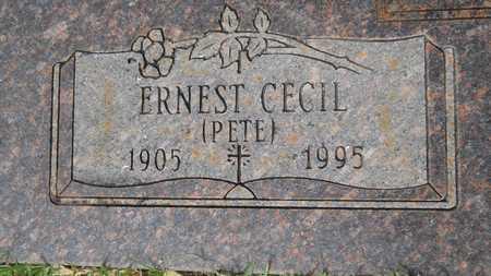 """HOLLIS, ERNEST CECIL """"PETE"""" (CLOSE UP) - Union County, Louisiana   ERNEST CECIL """"PETE"""" (CLOSE UP) HOLLIS - Louisiana Gravestone Photos"""