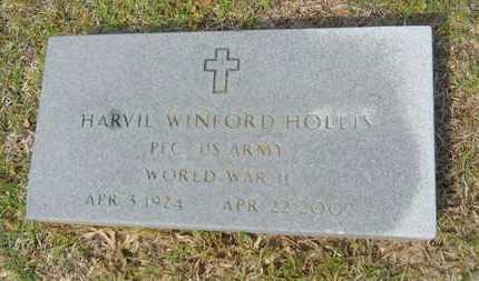 HOLLIS, HARVIL WINFORD (VETERAN WWII) - Union County, Louisiana   HARVIL WINFORD (VETERAN WWII) HOLLIS - Louisiana Gravestone Photos