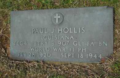 HOLLIS, PAUL J (VETERAN WWII, KIA) - Union County, Louisiana | PAUL J (VETERAN WWII, KIA) HOLLIS - Louisiana Gravestone Photos