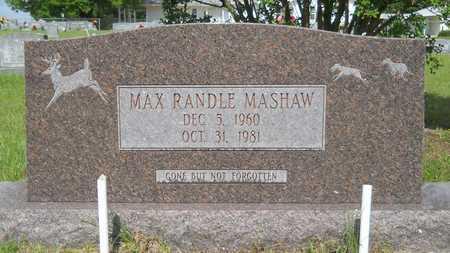 MASHAW, MAX RANDLE - Union County, Louisiana | MAX RANDLE MASHAW - Louisiana Gravestone Photos