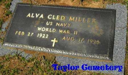 MILLER, ALVA CLED (VETERAN WWII) - Union County, Louisiana | ALVA CLED (VETERAN WWII) MILLER - Louisiana Gravestone Photos