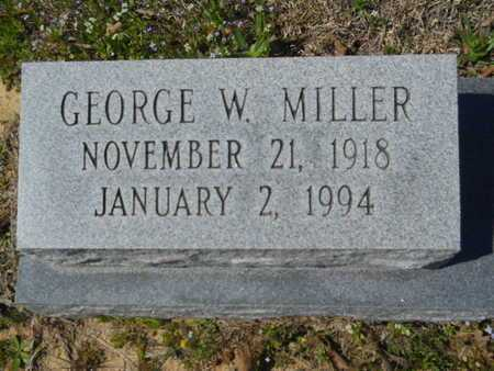 MILLER, GEORGE W (CLOSE UP) - Union County, Louisiana | GEORGE W (CLOSE UP) MILLER - Louisiana Gravestone Photos