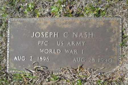 NASH, JOSEPH C (VETERAN WWI) - Union County, Louisiana   JOSEPH C (VETERAN WWI) NASH - Louisiana Gravestone Photos