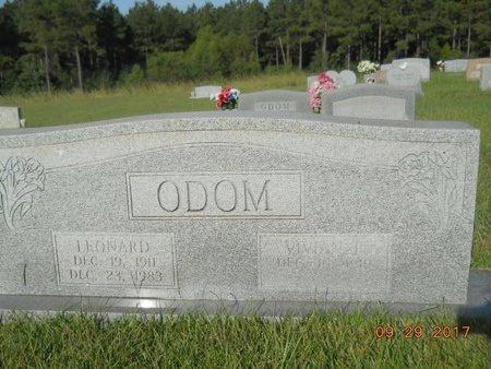 ODOM, LEONARD - Union County, Louisiana | LEONARD ODOM - Louisiana Gravestone Photos
