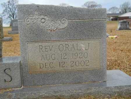 OWENS, ORAL J , REV  (CLOSE UP) - Union County, Louisiana | ORAL J , REV  (CLOSE UP) OWENS - Louisiana Gravestone Photos