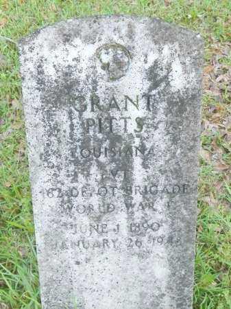 PITTS, GRANT (VETERAN WWI) - Union County, Louisiana | GRANT (VETERAN WWI) PITTS - Louisiana Gravestone Photos