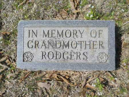 RODGERS, GRANDMOTHER - Union County, Louisiana | GRANDMOTHER RODGERS - Louisiana Gravestone Photos