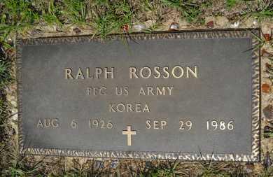 ROSSON, RALPH (VETERAN KOR) - Union County, Louisiana | RALPH (VETERAN KOR) ROSSON - Louisiana Gravestone Photos