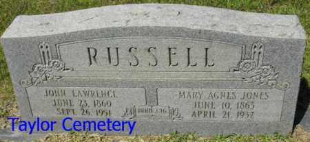 RUSSELL, JOHN LAWRENCE - Union County, Louisiana | JOHN LAWRENCE RUSSELL - Louisiana Gravestone Photos