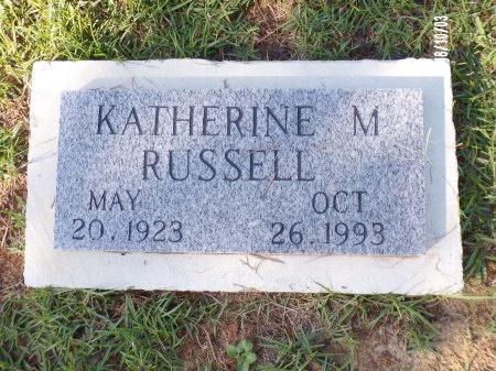 RUSSELL, KATHERINE M - Union County, Louisiana | KATHERINE M RUSSELL - Louisiana Gravestone Photos