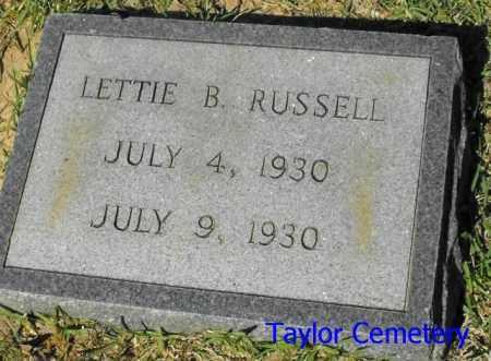 RUSSELL, LETTIE B. - Union County, Louisiana   LETTIE B. RUSSELL - Louisiana Gravestone Photos