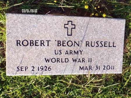 "RUSSELL  , ROBERT ""BEON"" (VETERAN WWII) - Union County, Louisiana | ROBERT ""BEON"" (VETERAN WWII) RUSSELL   - Louisiana Gravestone Photos"