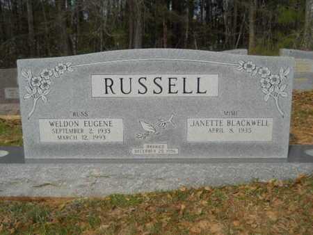 RUSSELL, WELDON EUGENE - Union County, Louisiana | WELDON EUGENE RUSSELL - Louisiana Gravestone Photos