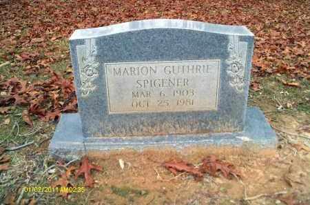 SPIGENER, MARION GUTHRIE - Union County, Louisiana   MARION GUTHRIE SPIGENER - Louisiana Gravestone Photos