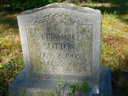 SUTTON, ETTA MAE - Union County, Louisiana   ETTA MAE SUTTON - Louisiana Gravestone Photos