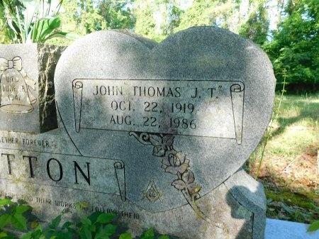 "SUTTON, JOHN THOMAS ""T J"" (CLOSE UP) - Union County, Louisiana   JOHN THOMAS ""T J"" (CLOSE UP) SUTTON - Louisiana Gravestone Photos"