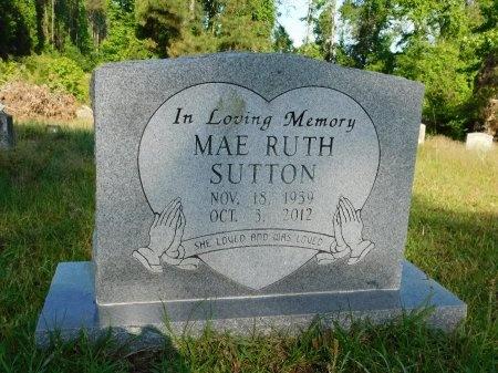 SUTTON, MAE RUTH - Union County, Louisiana   MAE RUTH SUTTON - Louisiana Gravestone Photos