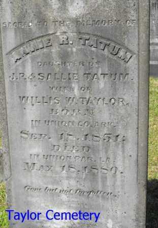TAYLOR, ANNIE R. - Union County, Louisiana | ANNIE R. TAYLOR - Louisiana Gravestone Photos