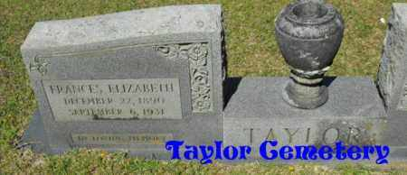 TAYLOR, FRANCES ELIZABETH - Union County, Louisiana | FRANCES ELIZABETH TAYLOR - Louisiana Gravestone Photos