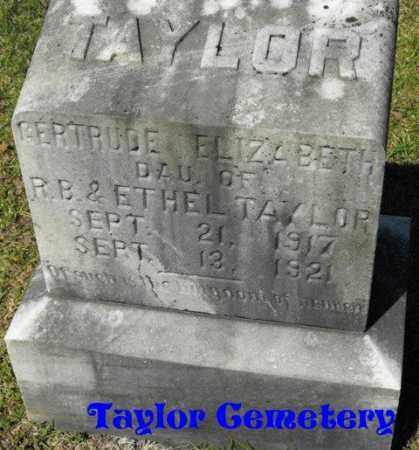TAYLOR, GERTRUDE ELIZABETH - Union County, Louisiana | GERTRUDE ELIZABETH TAYLOR - Louisiana Gravestone Photos