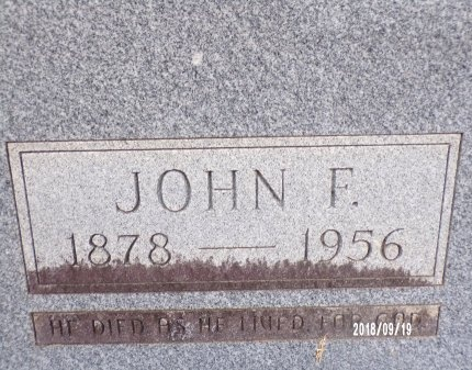 TAYLOR, JOHN FRANK (CLOSE UP) - Union County, Louisiana | JOHN FRANK (CLOSE UP) TAYLOR - Louisiana Gravestone Photos