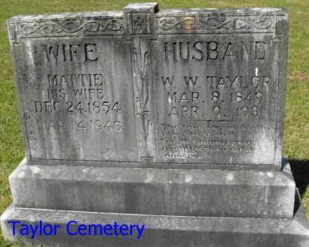 TAYLOR, MATTIE - Union County, Louisiana | MATTIE TAYLOR - Louisiana Gravestone Photos