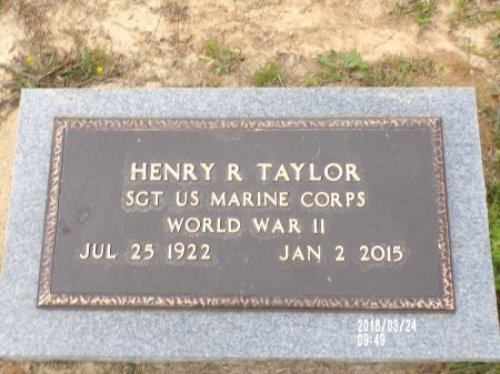 TAYLOR , HENRY R (VETERAN WWII) - Union County, Louisiana | HENRY R (VETERAN WWII) TAYLOR  - Louisiana Gravestone Photos