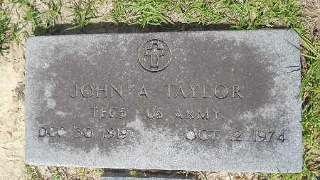 TAYLOR, JOHN A (VETERAN) - Union County, Louisiana | JOHN A (VETERAN) TAYLOR - Louisiana Gravestone Photos