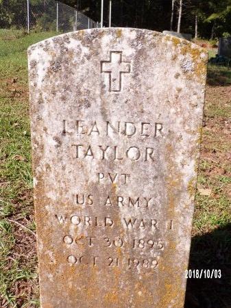 TAYLOR , LEANDER (VETERAN WWI) - Union County, Louisiana   LEANDER (VETERAN WWI) TAYLOR  - Louisiana Gravestone Photos