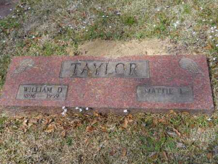 TAYLOR, WILLIAM D - Union County, Louisiana | WILLIAM D TAYLOR - Louisiana Gravestone Photos