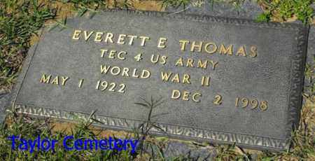 THOMAS, EVERETT E   (VETERAN WWII) - Union County, Louisiana | EVERETT E   (VETERAN WWII) THOMAS - Louisiana Gravestone Photos