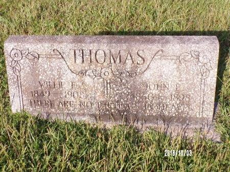 THOMAS, WILLIE E - Union County, Louisiana | WILLIE E THOMAS - Louisiana Gravestone Photos