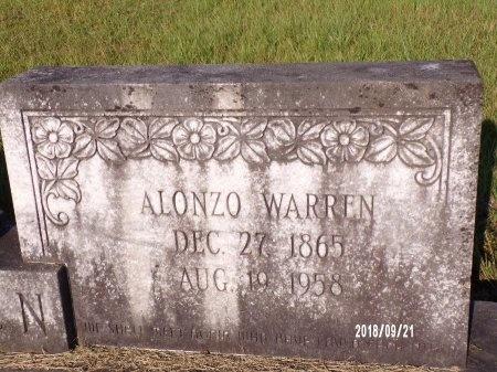 WARREN, ALONZO (CLOSE UP) - Union County, Louisiana | ALONZO (CLOSE UP) WARREN - Louisiana Gravestone Photos