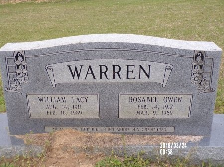 WARREN, WILLIAM LACY - Union County, Louisiana | WILLIAM LACY WARREN - Louisiana Gravestone Photos