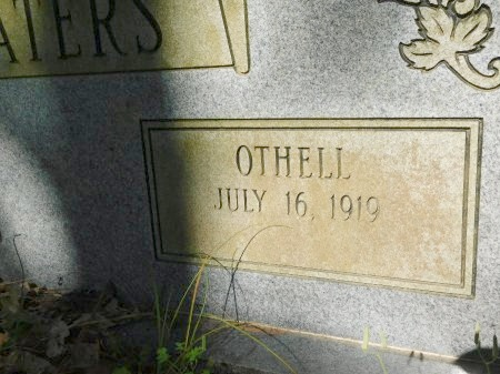 WATERS, OTHELL (CLOSE UP) - Union County, Louisiana   OTHELL (CLOSE UP) WATERS - Louisiana Gravestone Photos
