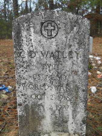 WATLEY, C D (VETERAN WWII) - Union County, Louisiana   C D (VETERAN WWII) WATLEY - Louisiana Gravestone Photos