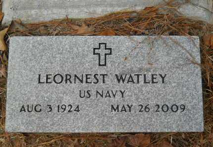 WATLEY, LEORNEST (VETERAN) - Union County, Louisiana   LEORNEST (VETERAN) WATLEY - Louisiana Gravestone Photos