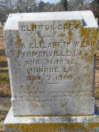 WEBB, CLIFTON GREY - Union County, Louisiana | CLIFTON GREY WEBB - Louisiana Gravestone Photos